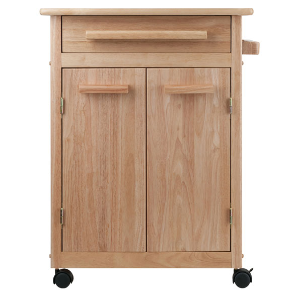 Kitchen Cart With Cabinet: Hackett Kitchen Cart With One Drawer, Cabinet