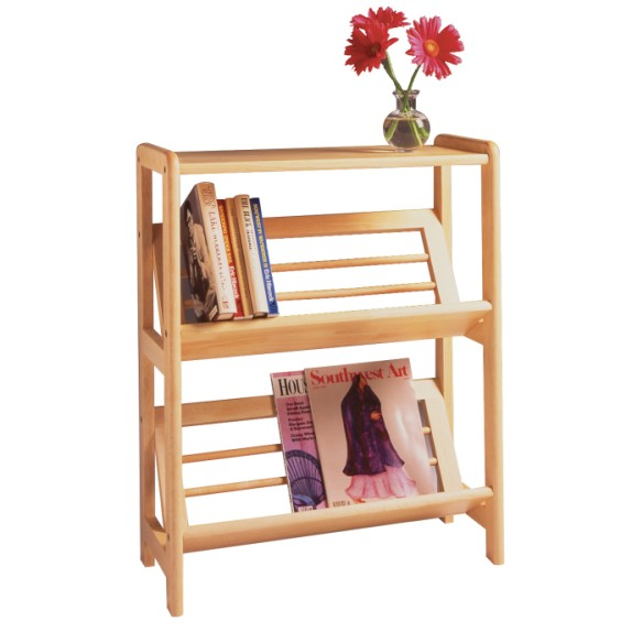 Juliet Bookshelf With Slanted Shelf Winsome Wood